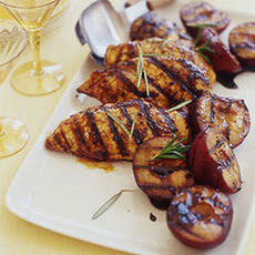 Deviled Chicken and Grilled Stone Fruit