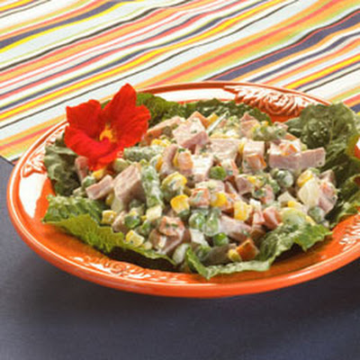 Ham & Mixed Vegetable Salad