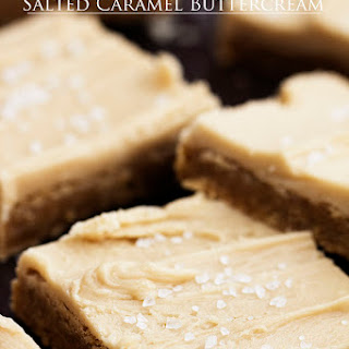 Brown Butter Sugar Cookie Bars with Salted Caramel Buttercream