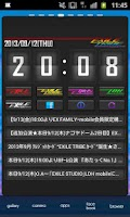 Screenshot of EXILE TRIBE mobile Clock