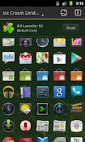 Screenshot of GO Launcher EX Theme ICS