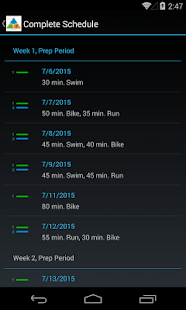 Mobile Tri Trainer - screenshot
