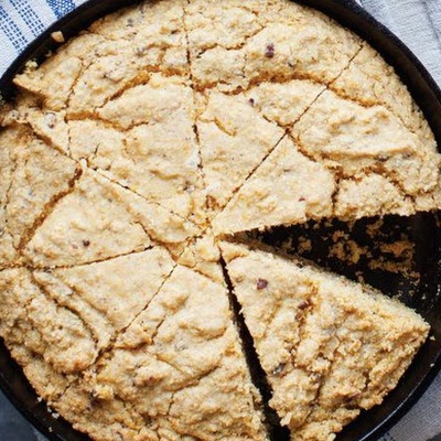 Skillet Cornbread with Pecan Dukkah From 'Afro-Vegan'