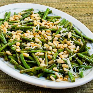 Stir-Fried Green Beans with Lemon, Parmesan, and Pine Nuts