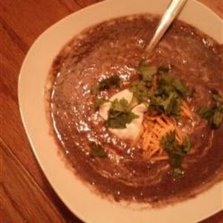 Fast and Delicious Black Bean Soup