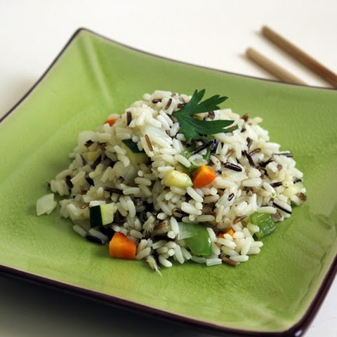Wild rice with Zucchini and Carrot