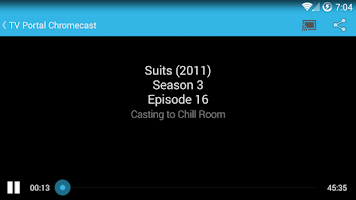 Screenshot of TV Portal Chromecast Plugin