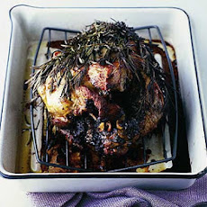 Roast Leg Of Lamb Wrapped In Rosemary