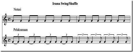 Irama swing-shuffle