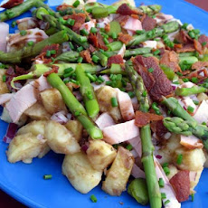 Spring Asparagus, Ham and Potato Salad - Honey Mustard Dressing