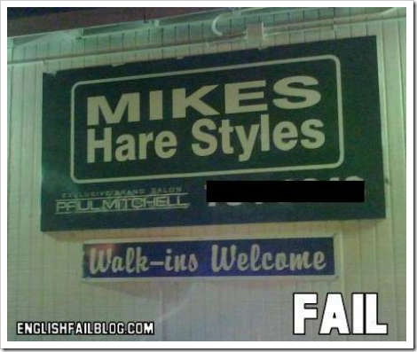 FAIL picture - Mikes Hare Styles.