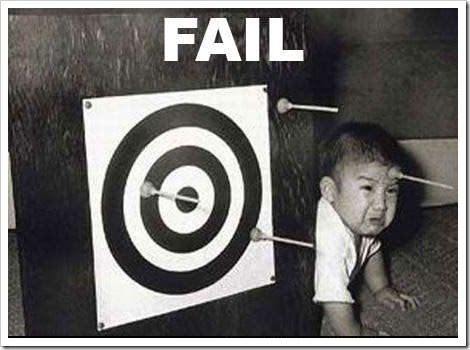 FAIL - Funny kid picture - Kids with toy arrow.