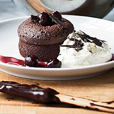 Warm Chocolate Cakes with Mascarpone Cream