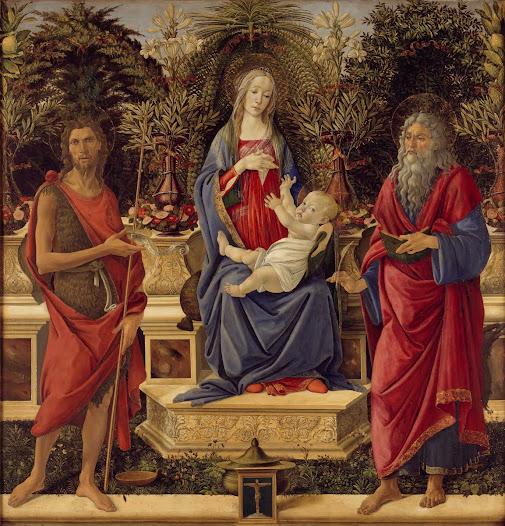 Botticelli Sandro, Madonna e santi