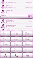 Screenshot of Dialer Frame Pink White Skin