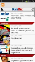 Screenshot of Malaysiakini Mobile