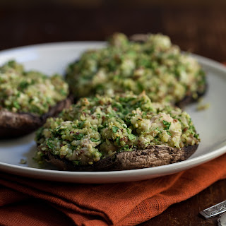 Vegetarian Quinoa Stuffed Portobello Mushrooms