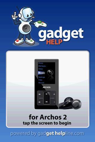 Archos 2 - Gadget Help
