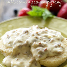 Biscuits with Country Sausage Gravy