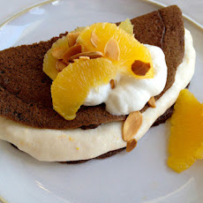 Chocolate Crepes with Orange Creme