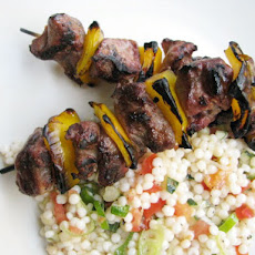 Sunday Supper: Lamb Kebabs with Israeli Couscous