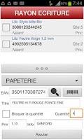 Screenshot of Gestion de stock