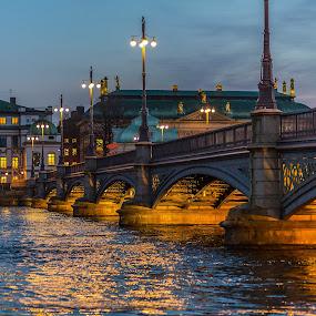 Evening bridge by Dan Westtorp - Buildings & Architecture Bridges & Suspended Structures