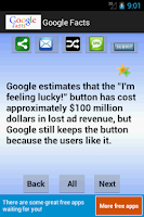 Screenshot of Google Facts