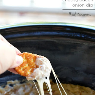 Crock Pot Cheesy Bacon Onion Dip