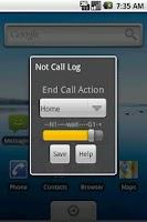 Screenshot of Not Call Log Classic