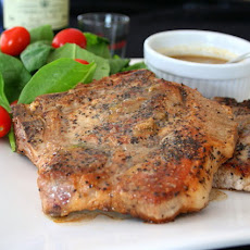 Pepper-seared Pork Chops with Whiskey Cream Sauce