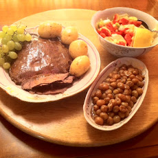 Seared and Pan-Roasted Flank Steak with Grapes
