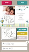 Screenshot of Baby Album by PhotoInPress