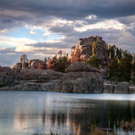 Sylvan Lake at Sundown by Darren Small - Landscapes Mountains & Hills ( custer state park, park, sunset, sylvan lake, cluffs, state park, sundown, south dakota, lake, sylvan, rocks )