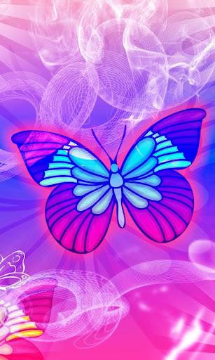 Purple Butterfly theme 480x800