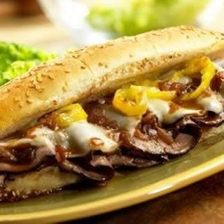 Dripping Roast Beef Sandwiches with Melted Provolone