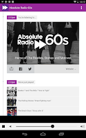 Screenshot of Absolute Radio 60s