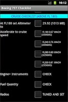 Screenshot of Boeing 737 Checklist