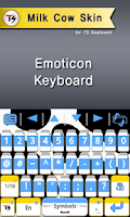 Screenshot of Milk cow Skin for TS Keyboard