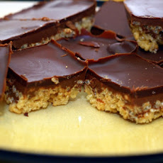 Grandma's Butterscotch Chocolate Rice Crispie Squares