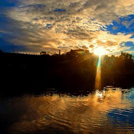 Fish Pond by Rannie Tomalon - Landscapes Sunsets & Sunrises
