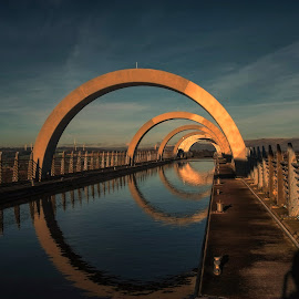 The Falkirk Wheel by Phil Robson - Buildings & Architecture Bridges & Suspended Structures ( scotland, falkirk wheel, bridge, canal )