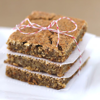 Buttery Chickpea Flax Blondies
