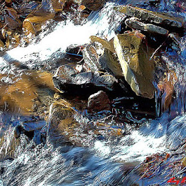 cold creek by Lucy Riffle - Nature Up Close Water