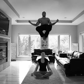 Levitate by PHALON NELSON - Digital Art People ( pnelz, levitation, black and white, floating, levitate, labellade )