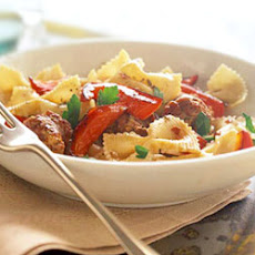 Bow Tie Pasta with Sausage and Vegetables