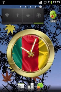 Cameroon flag clocks - screenshot