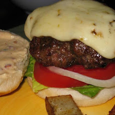 Jamaican Jerk Burgers With Orange-Chipotle Mayonnaise