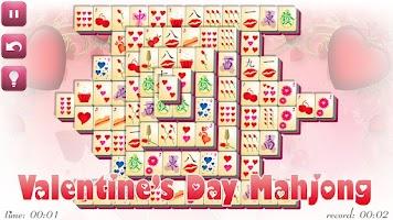 Screenshot of Valentine's Day Mahjong