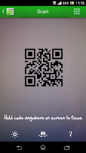 QR Droid Code Scanner Screenshot